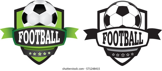 shield or logo badge to represent a sports club as a vector