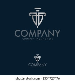 Shield Logo Design. Law and Lawyer Logo Template