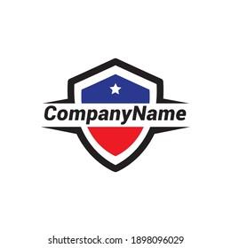 Shield logo design vector template.