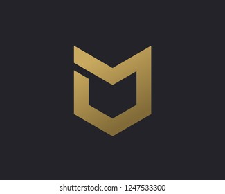 Shield logo icon design template elements with letter O