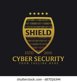 Shield logo. Protection company. Security Guardian Vector illustration
