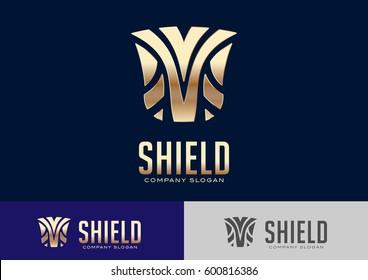 Shield Logo Template Design Vector