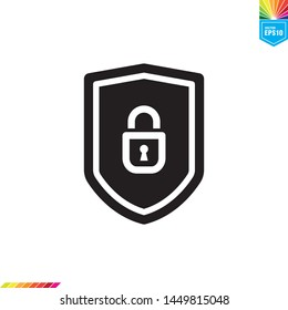 shield and padlock icon vector