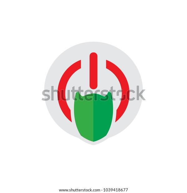 Shield Power Logo Icon Design
