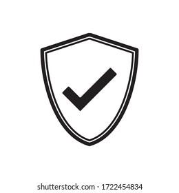 Shield Protection Icon. Vector Design Logo Template