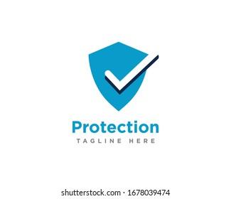 Shield Protection Logo Icon Design Vector