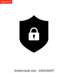shield security icon vector design
