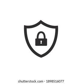 Schutzschild-Symbol, Vektorgrafik auf weißem Hintergrund