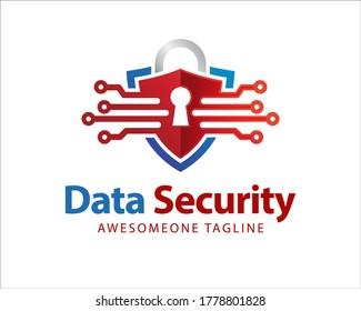 Shield Security Logo Design, Vector, Template