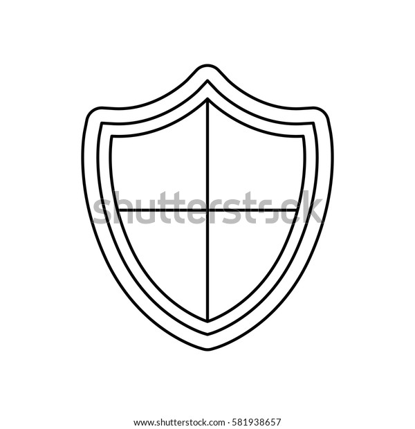Shield security symbol icon vector illustration graphic design