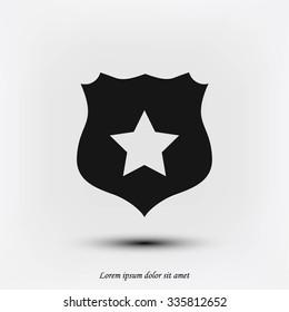 Shield sign vector icon