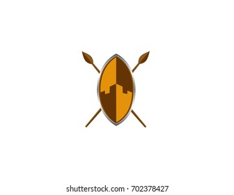 Shield And Spear Tribe Logo