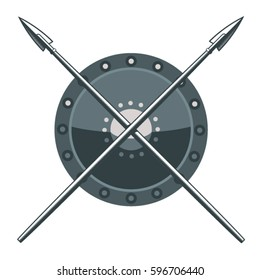 Shield and spears