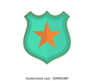 shield star badge law sheriff deputy image vector icon logo