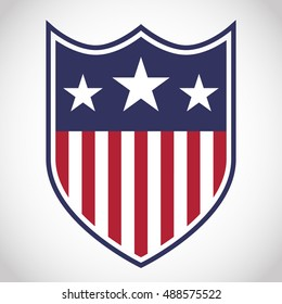 Shield with stars and stripes