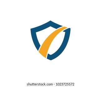 Shield symbol logo template vector illustration design