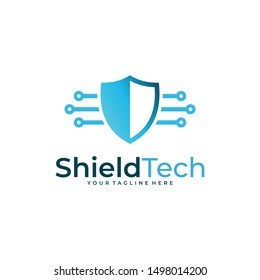 shield technology logo icon vector