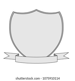 Shield Template With Ribbon