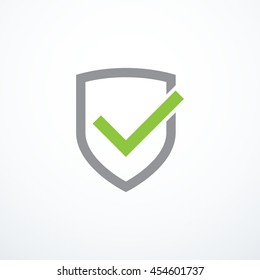 Shield and tick icon