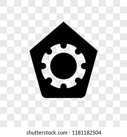 Shield vector icon isolated on transparent background, Shield logo concept