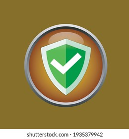 Shield Vector Icon in popular 3D flat style. Perfect fit for your website, application, logo and hanphone icon
