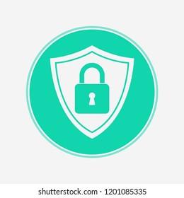 Shield vector icon sign symbol
