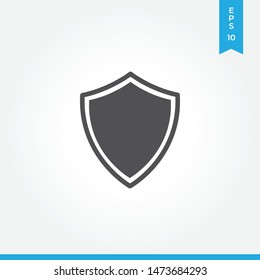 Shield vector icon, simple sign for web site and mobile app.