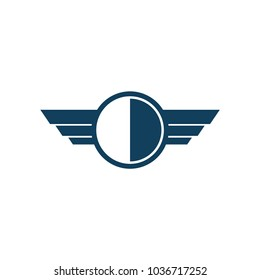 shield with wing logo design, shield with wing icon, logo design template, symbol for company