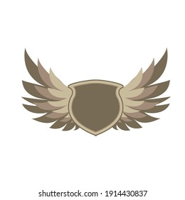 shield and wings illustration vector graphic