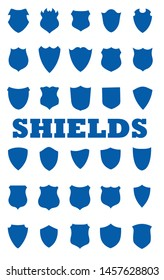 shields symbols in vector form use for logos