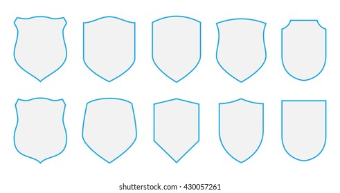 Shields vector coat arms set signs/symbols/stickers design elements