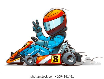 Shifter Kart Racer cartoon illustration