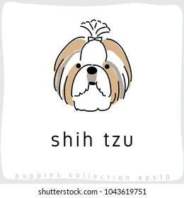 Shih Tzu : Dog Breed Collection : Vector Illustration