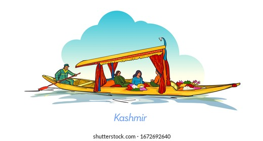 The shikara is a type of wooden boat found on Dal Lake and other water bodies of Srinagar in Jammu and Kashmir