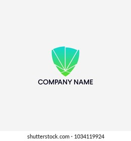 Shilled and cannabis logo design