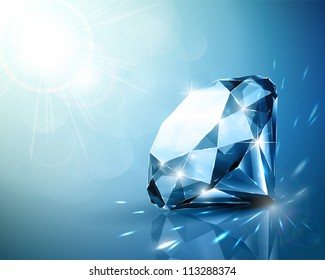 Shimmering diamond background