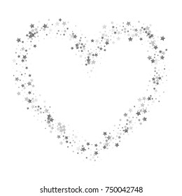 d02f7d3ab Shimmering Stars Confetti Heart Frame. Greeting Card, Wedding, Invitation  Template Background with Free