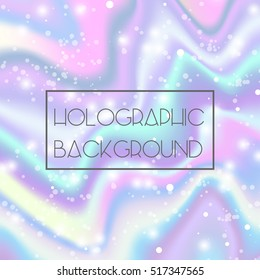 Shine bright holographic modern background for trendy design