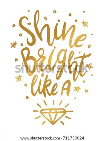 Shine Bright Like Diamond Wall Art Stock Vector (Royalty Free ...