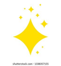 Shine icon, Clean star icon. Vector illustration