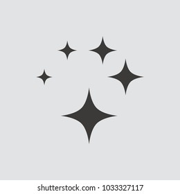 Shine icon isolated of flat style. Vector illustration.