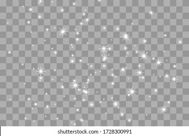 Shine light effect, png bright sparkle dust. Vector isolate
