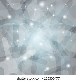 Shining Abstract Silver Background with stars