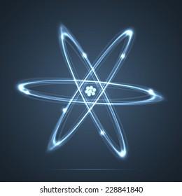 Shining atom