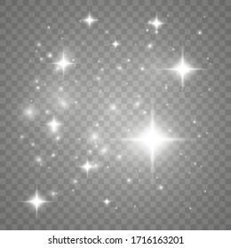 Shining bokeh isolated on transparent background. Vector illustration.
