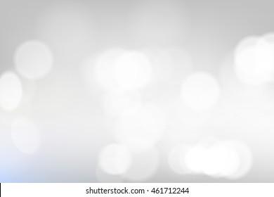 Shining lights white abstract background. Blur Studio creative backdrop, vector illustration