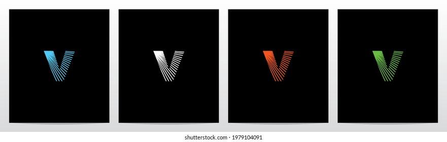 Shining Rays On Letter Logo Design V