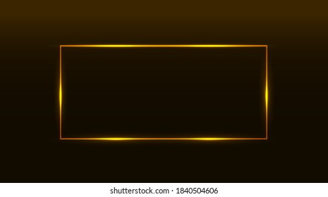 Shining rectangle banner. Isolated on black transparent background. Vector illustration  Futuristic screens HUD, GUI, UI and set titles (warning, danger сounthdown and other). Futuristic