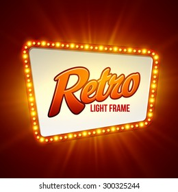 Shining retro light banner.  Vector illustration EPS 10