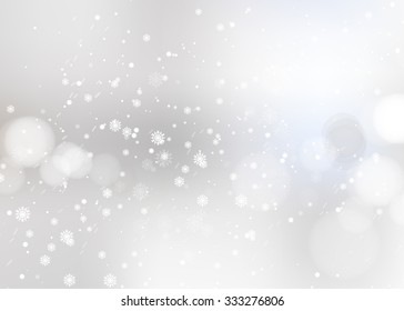 Shining snow Blur Christmas Backdrop. Vector illustration